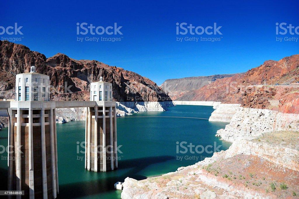 USA - Arizona: Hoover Dam intake towers royalty-free stock photo