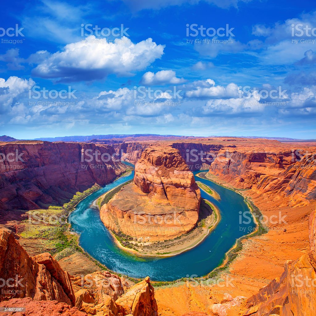 Arizona Horseshoe Bend meander of Colorado River stock photo