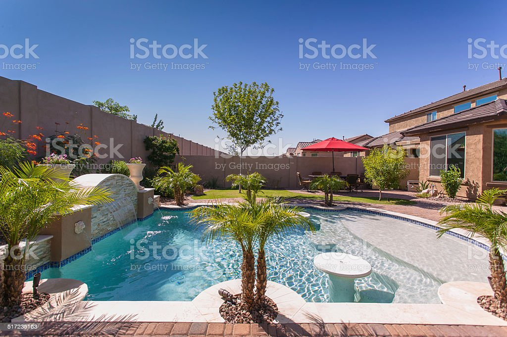 Arizona Luxury Pool stock photo