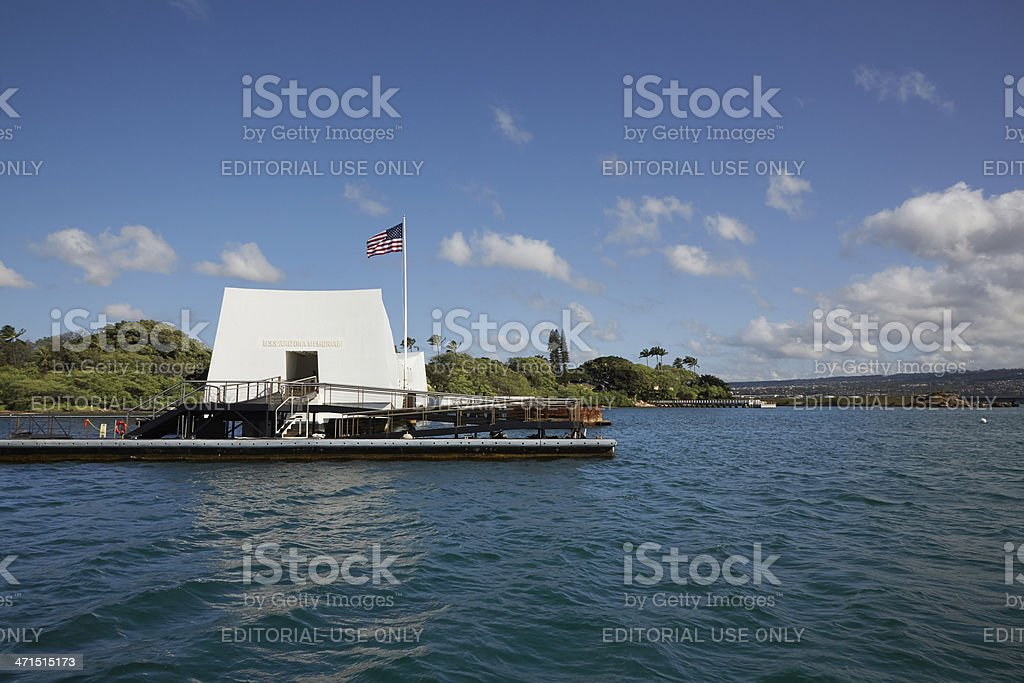 USS Arizona Memorial, Pearl Harbor, Hawaii royalty-free stock photo
