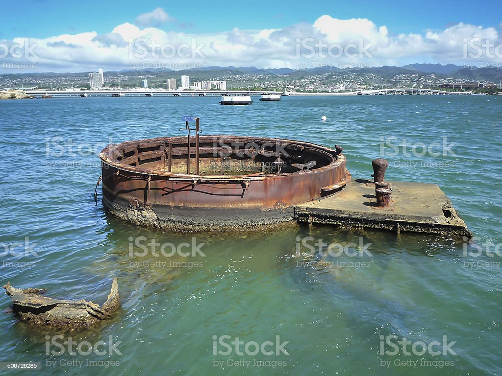 USS Arizona Memorial, Pearl Harbor, Hawaii stock photo