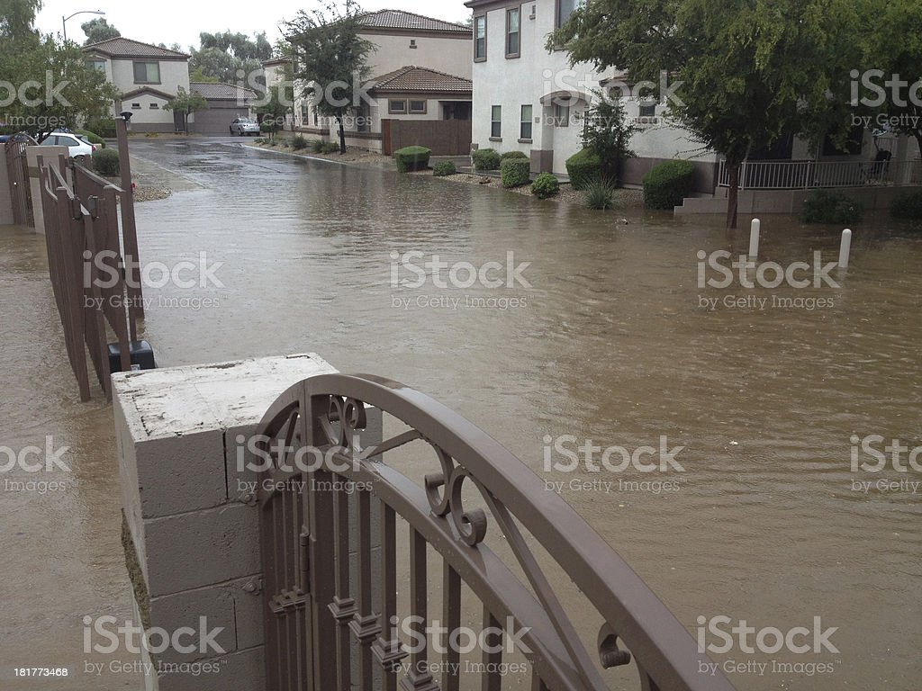 Arizona Monsoon Flood stock photo