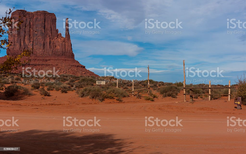 Arizona. Monument Valley. West Mitten Butte from Valley Drive. stock photo