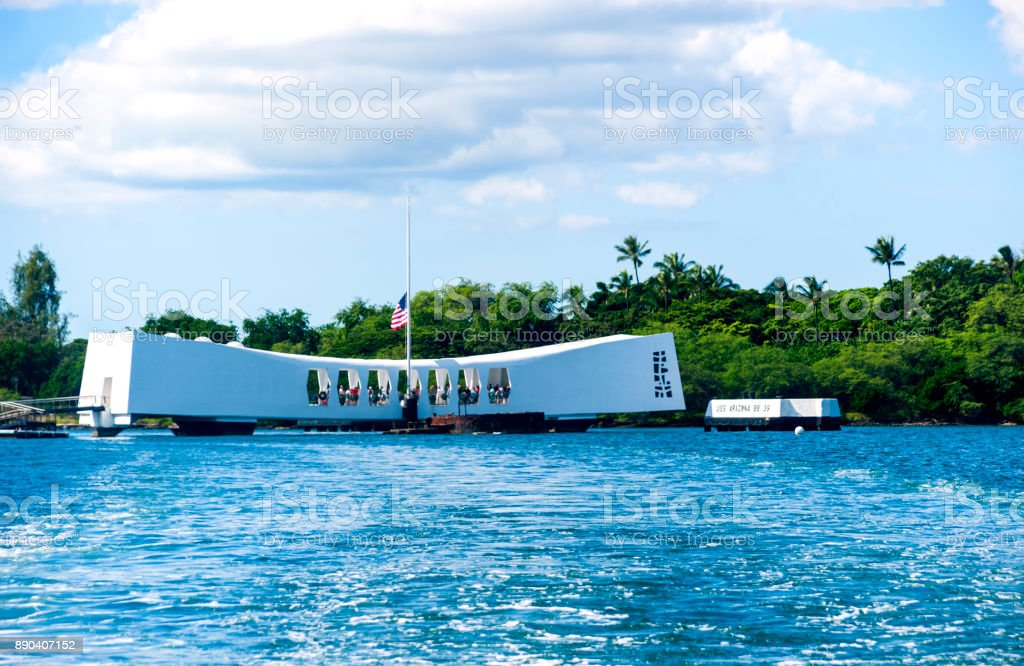USS Arizona stock photo
