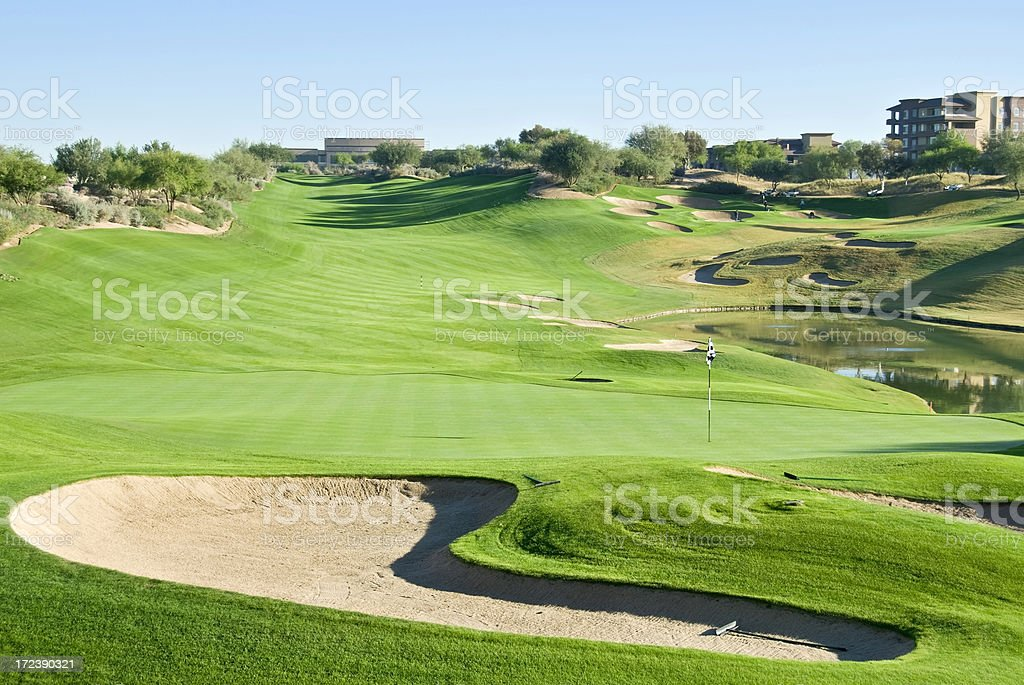 Arizona Resort Golf Course stock photo