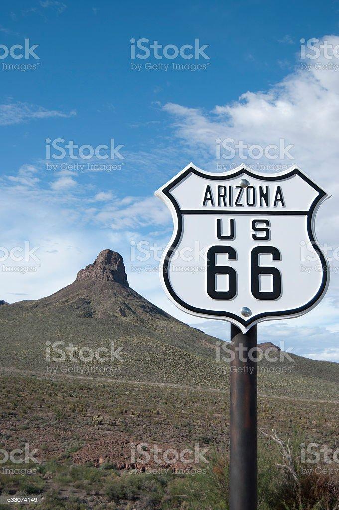 Arizona Route 66 Sign stock photo