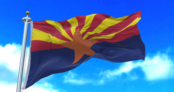 Arizona state flag. stock photo