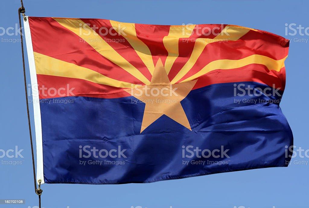 Bandeira do estado do Arizona - foto de acervo