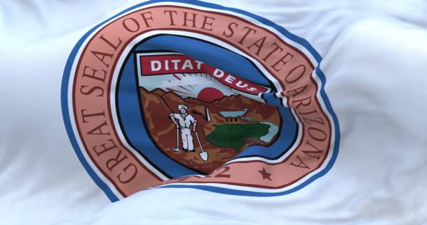 Arizona state seal flag. stock photo