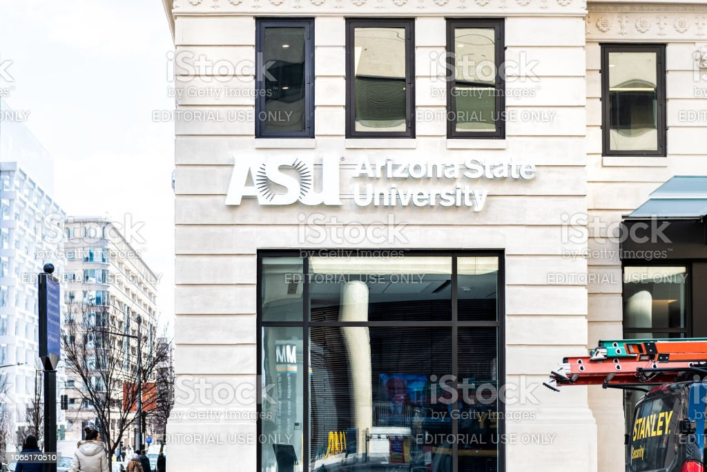 Arizona State University ASU office, buildings, online higher education, educational institution in District of Columbia stock photo