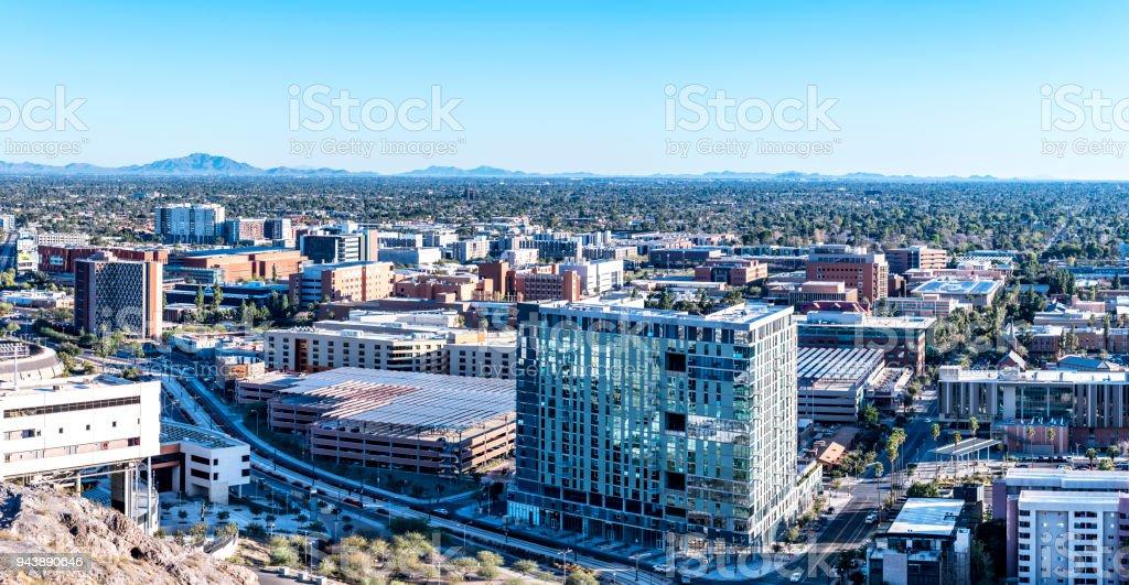 Arizona State University city overlook stock photo