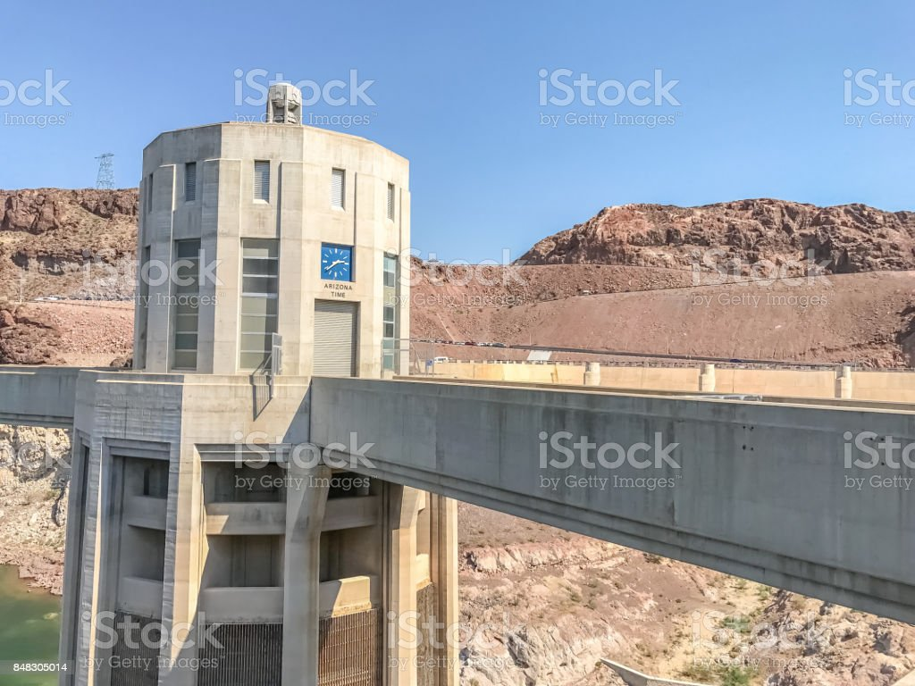 Arizona Time Zone Tower stock photo