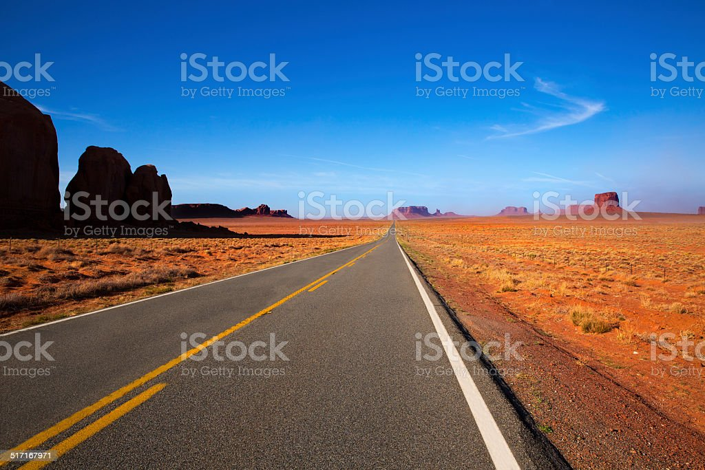 Arizona US 163 Scenic road to Monument Valley stock photo