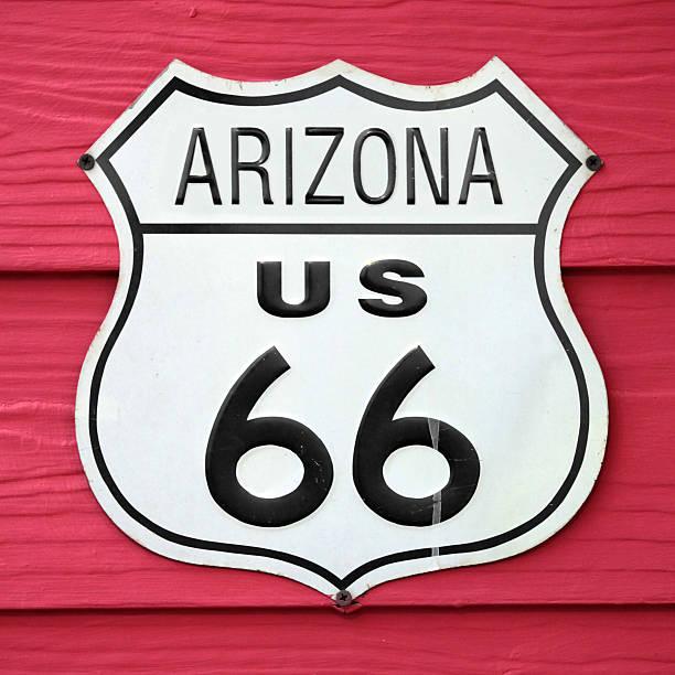 arizona us 66 - arizona highway signs stockfoto's en -beelden