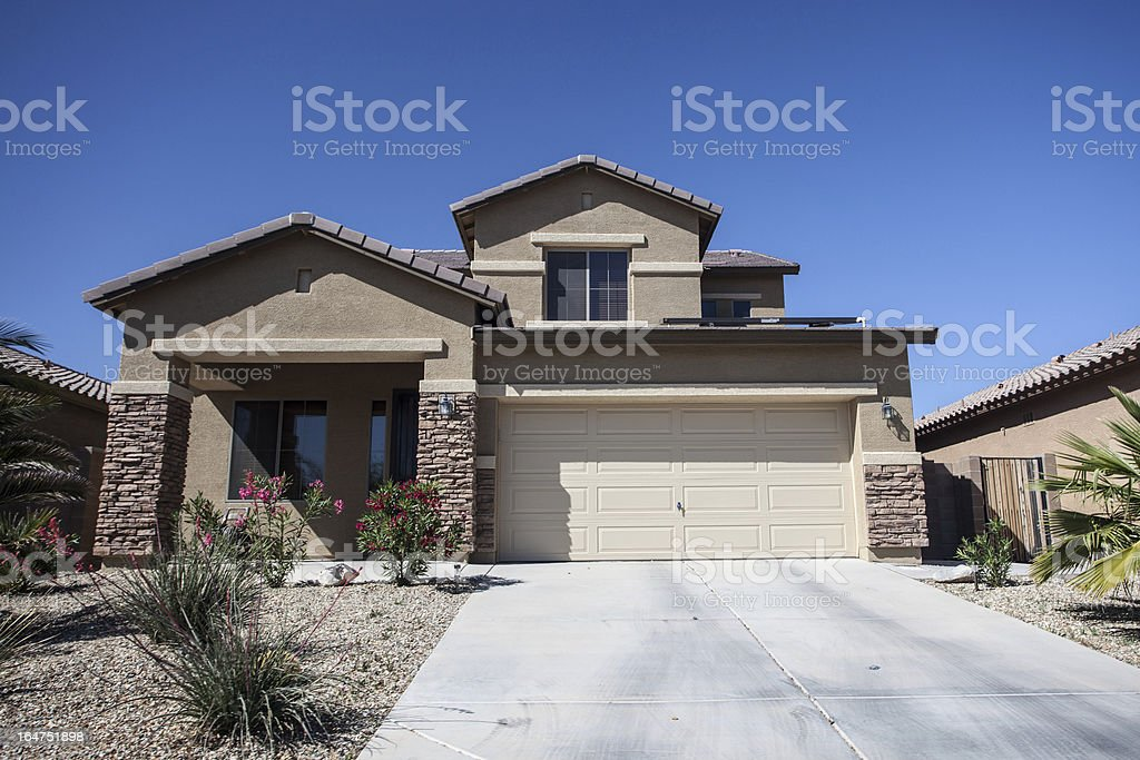Arizona-style house design common to the region stock photo