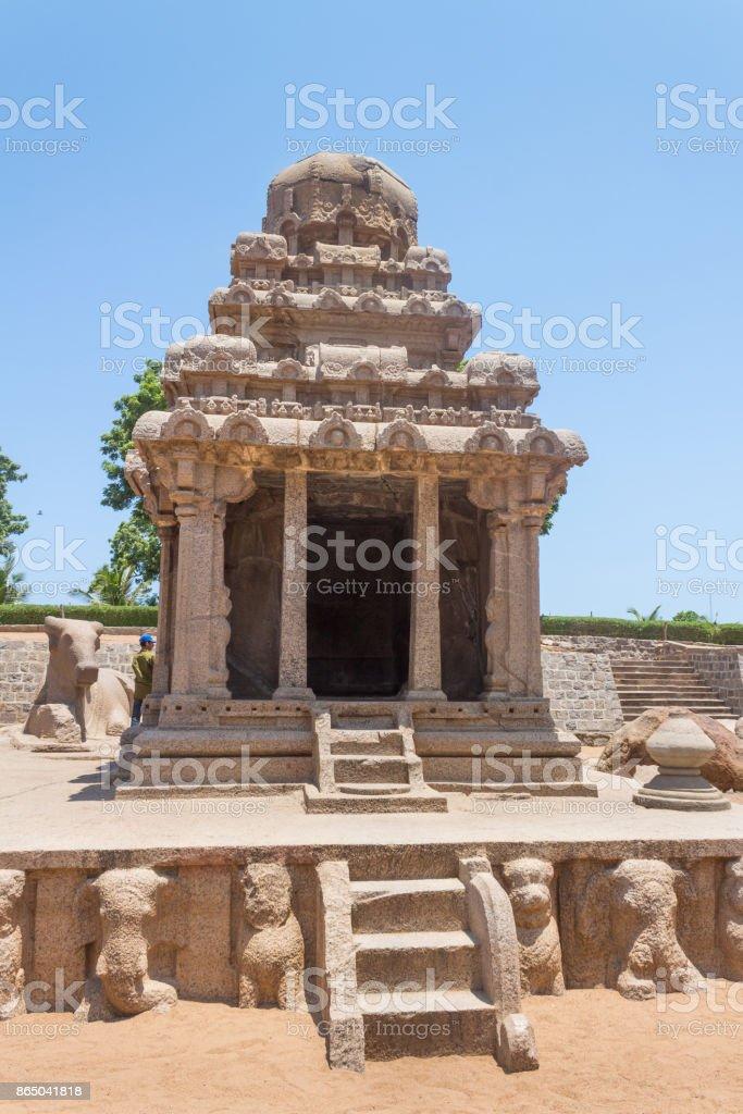 Arjuna Ratha, Five rathas monument, Mahabalipuram, Tamil Nadu, India stock photo