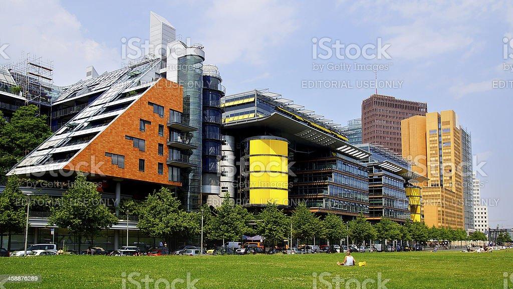 Arkaden Platz, Berlin stock photo