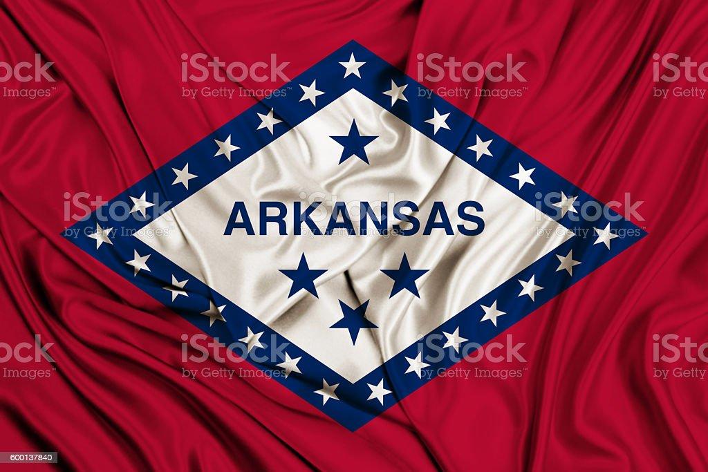 Arkansas flag stock photo