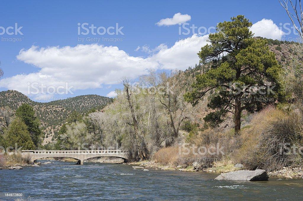Arkansas River Runoff stock photo