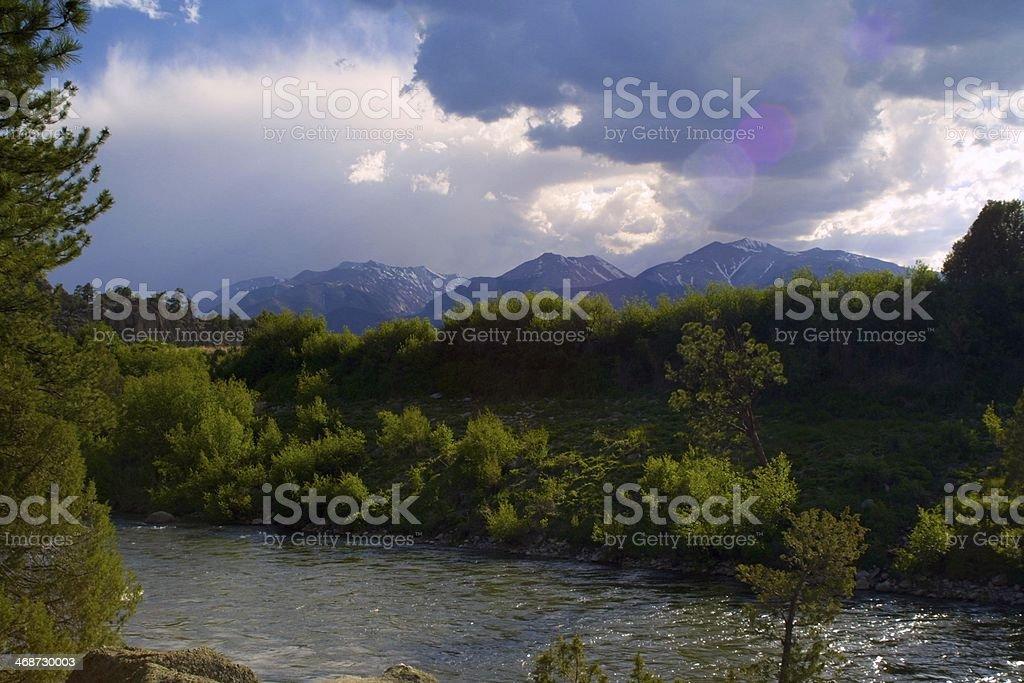 Arkansas River Scenic stock photo
