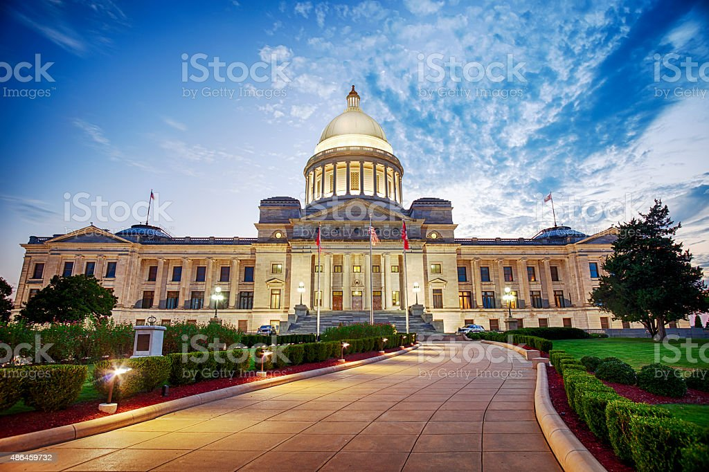 Arkansas State Capitol Building In Little Rock stock photo