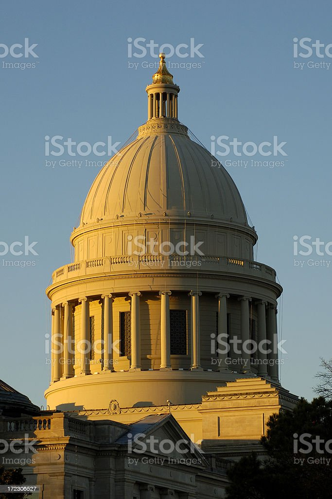 Arkansas State Capitol royalty-free stock photo