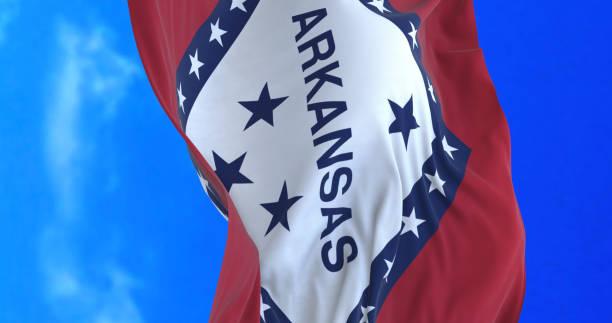 Arkansas State flag. stock photo