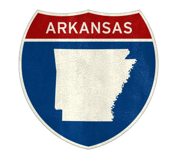 Arkansas State - Interstate Road Sign – Foto
