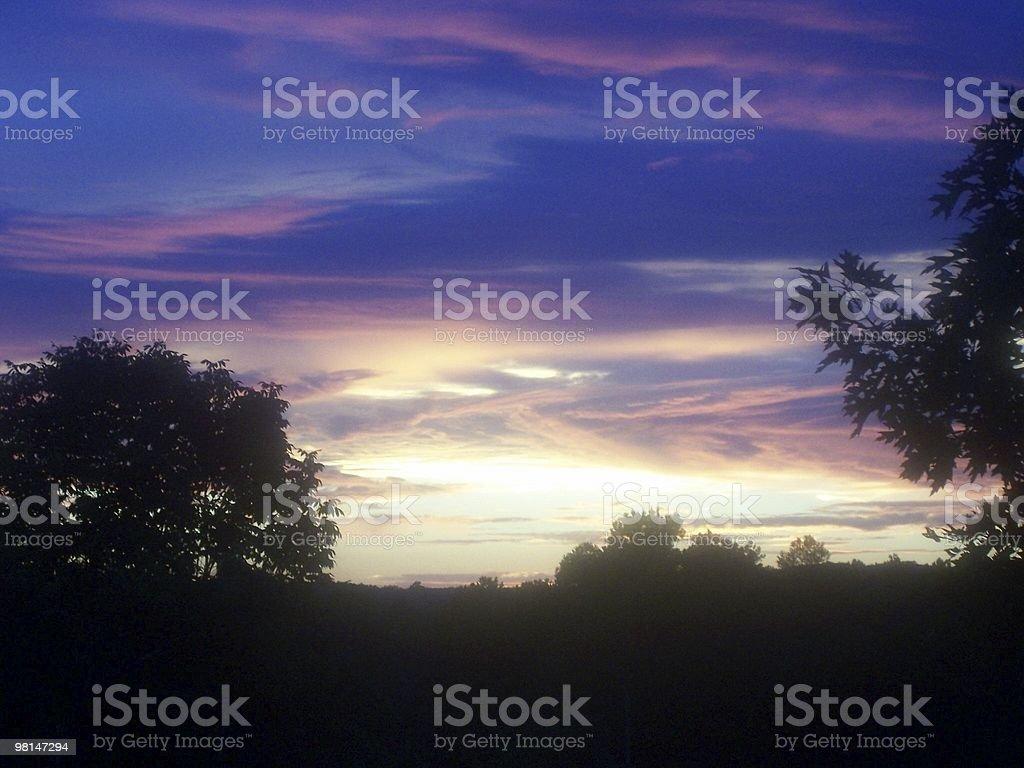 Arkansas tramonto foto stock royalty-free