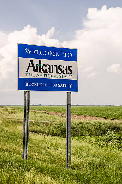 arkansas welcome sign - place sign stock pictures, royalty-free photos & images