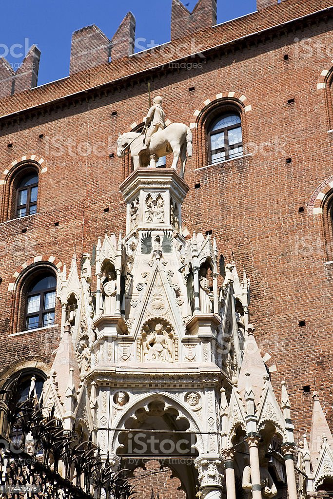arks Scala of Verona royalty-free stock photo