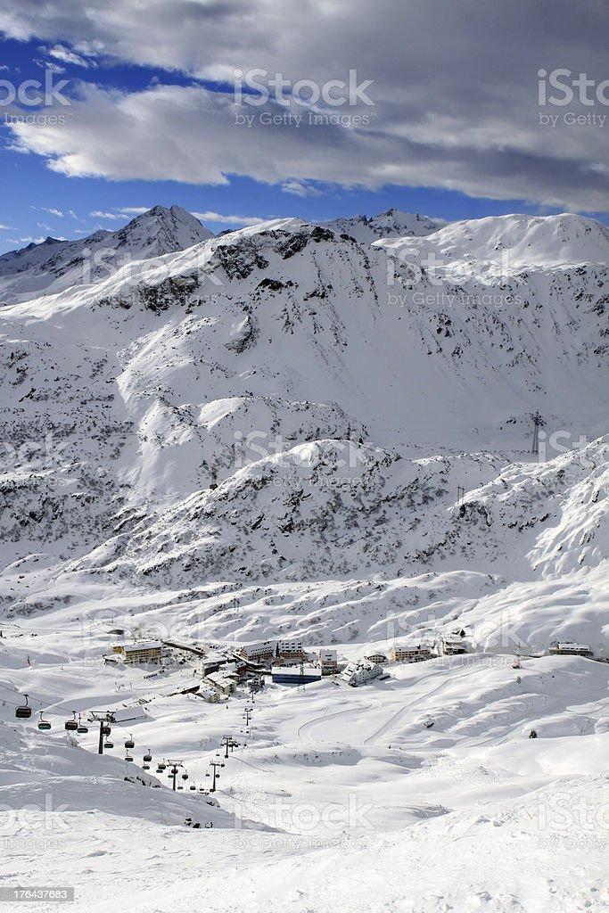 Arlberg. Austria stock photo