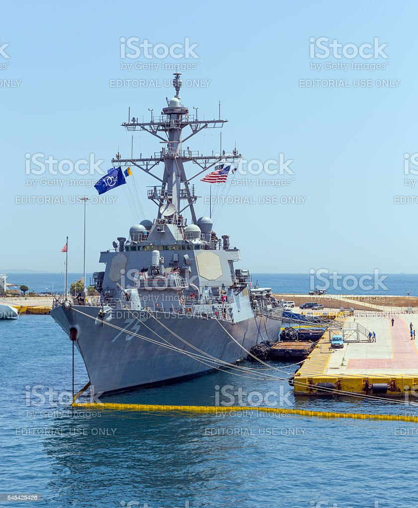Arleigh Burke class guided missile destroyer USS Donald Cook (DDG-75) stock photo