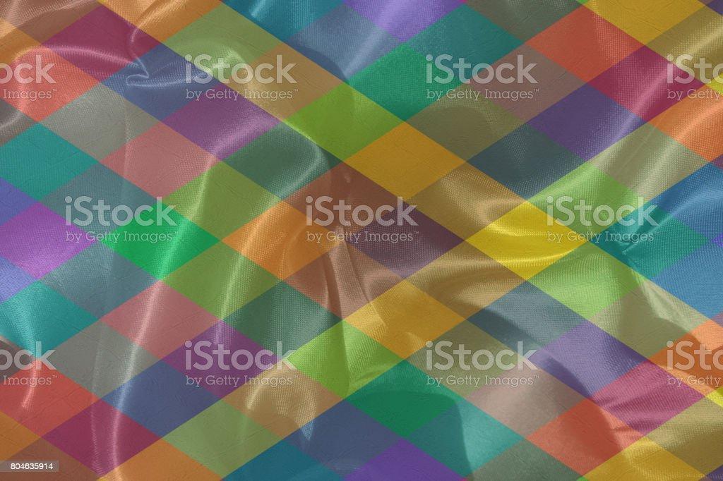 Arlequin - Multicolored fabric stock photo