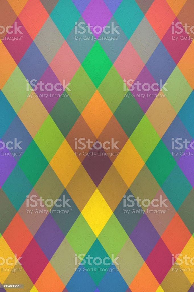 Arlequin - patrón en forma de diamantes multicolor - foto de stock