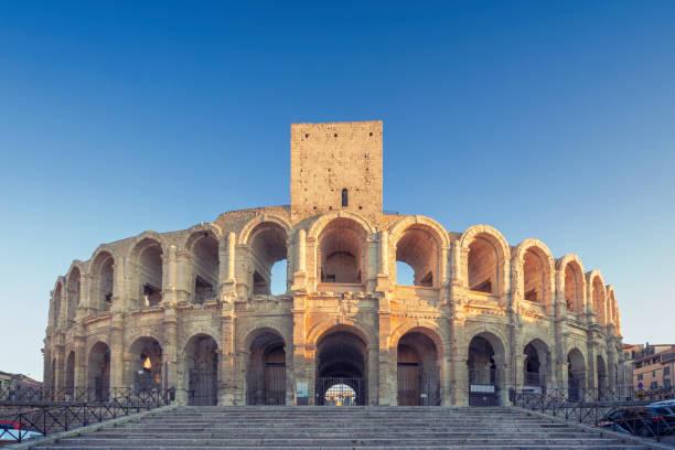 Arles Amphitheatre stock photo