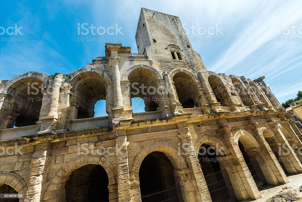 Arles arena stock photo