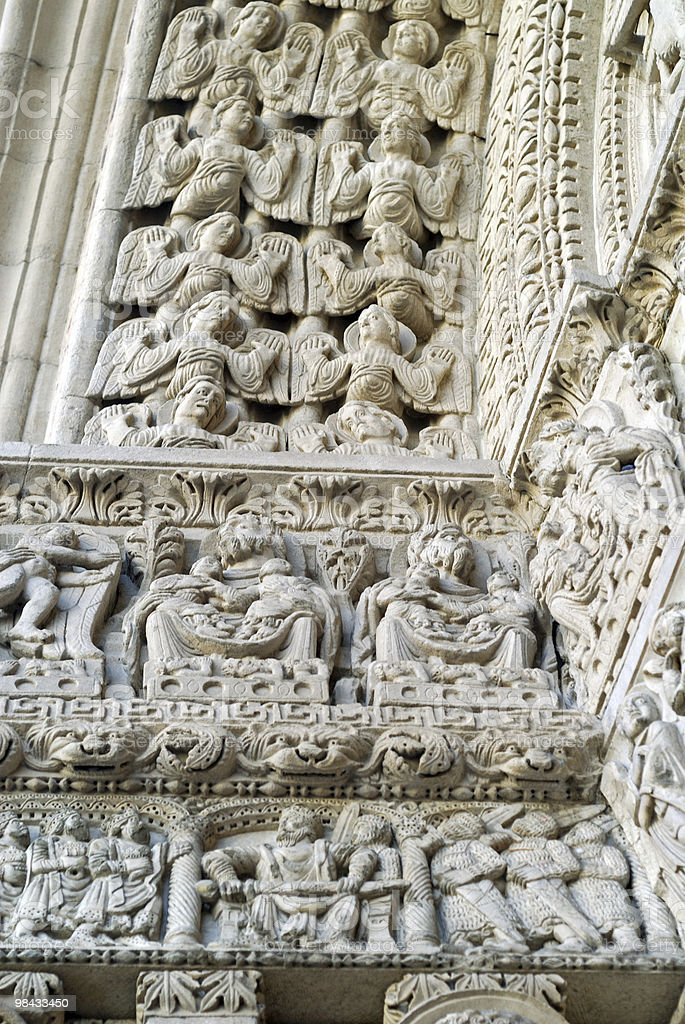 Arles (Provence, France) - Detail of Saint-Trophime church royalty-free stock photo