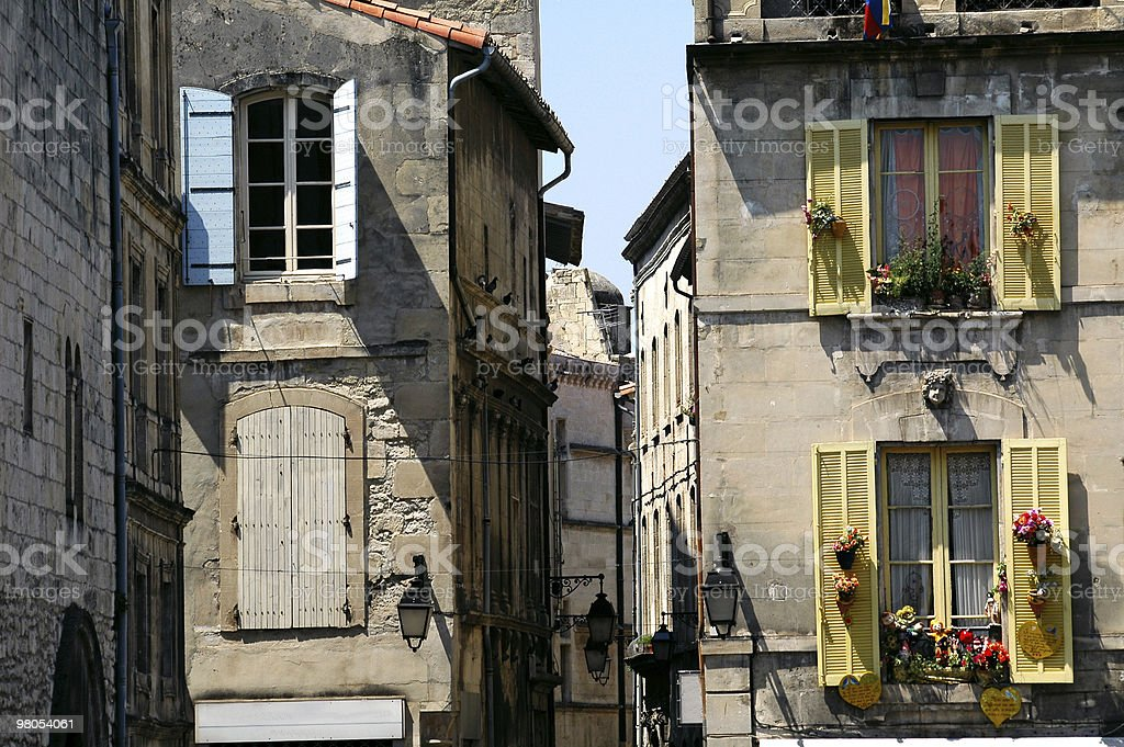 Arles (Provence), Old houses, exterior royalty-free stock photo