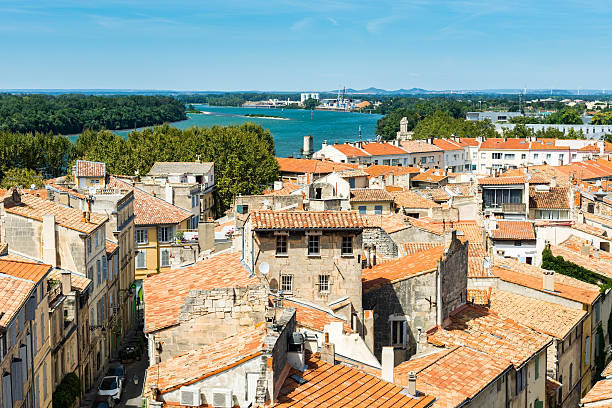 Arles overview stock photo