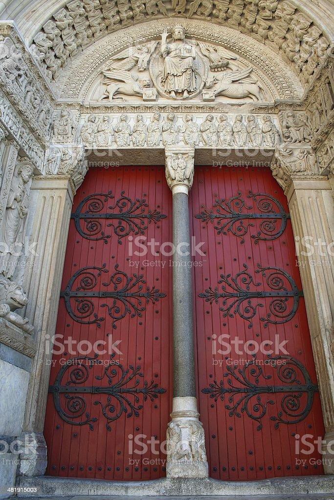 Arles Saint-Trophime church entrance royalty-free stock photo