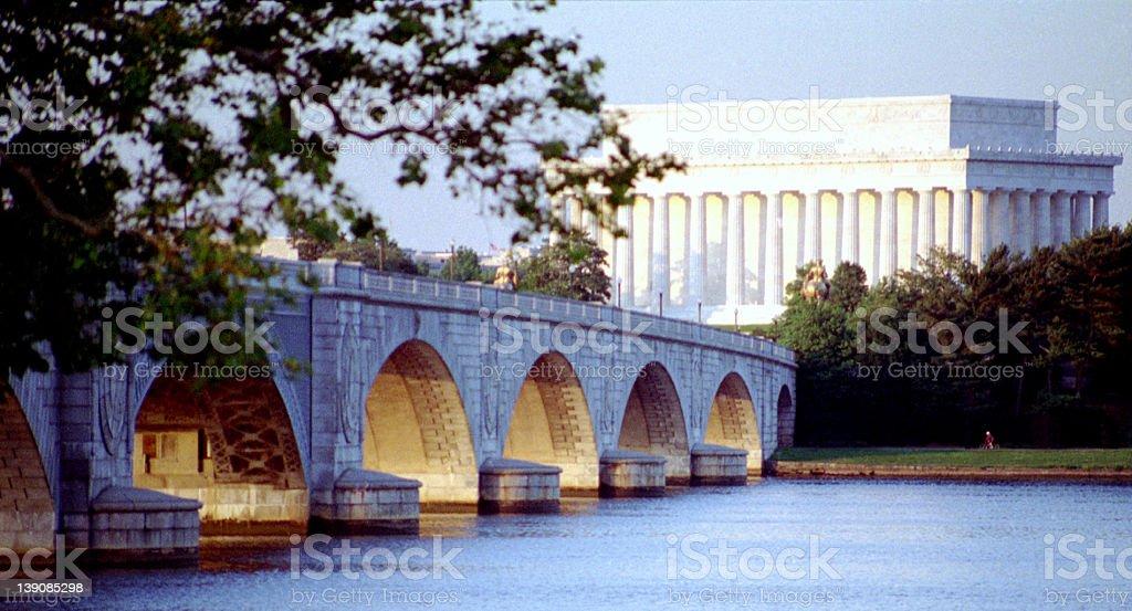 Arlington Bridge, Washington DC stock photo