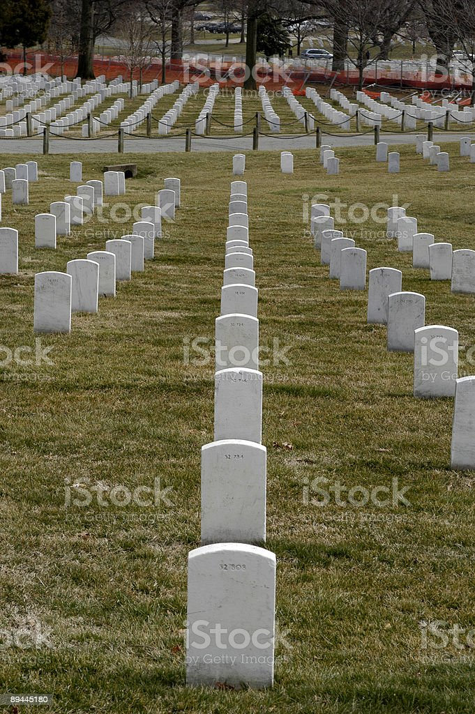 Arlington Cementary Headstones royalty-free stock photo