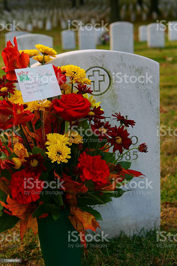 Arlington Cemetery Fall royalty-free stock photo