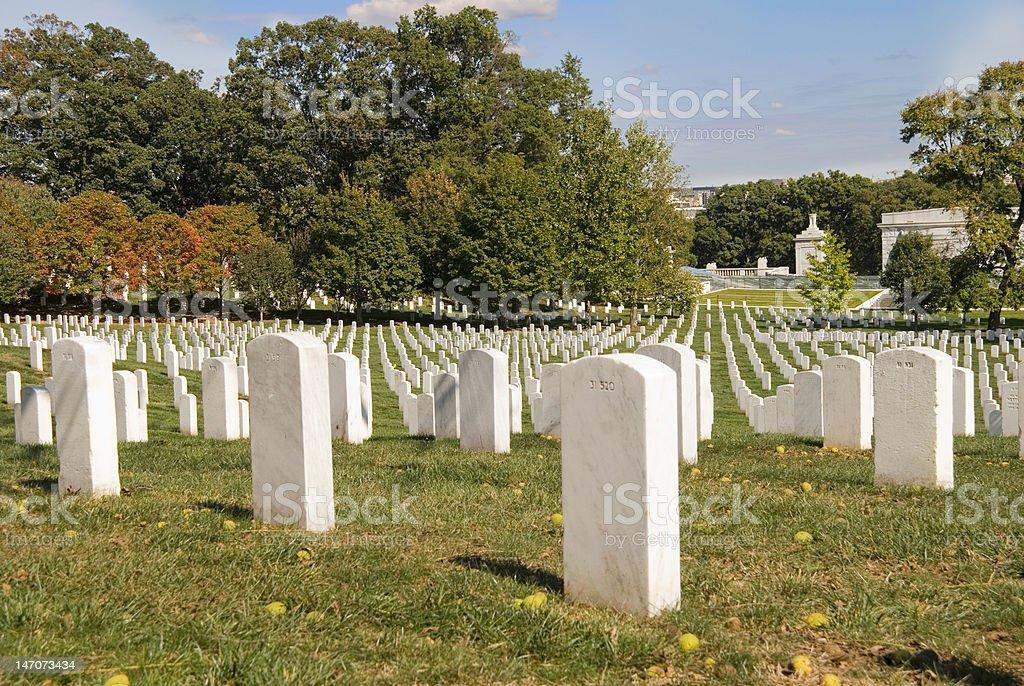 Arlington Cemetery in Autumn royalty-free stock photo