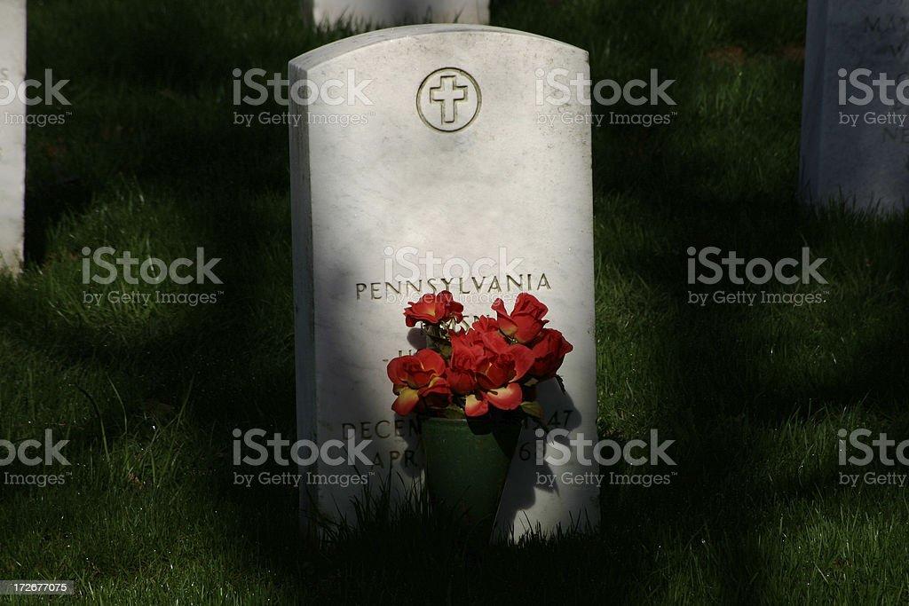 Arlington Cemetery One Grave royalty-free stock photo