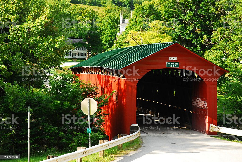 Arlington Covered Bridge stock photo