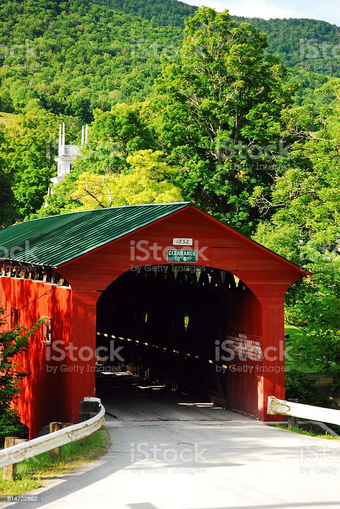 Arlington Covered Bridge, Vermont stock photo