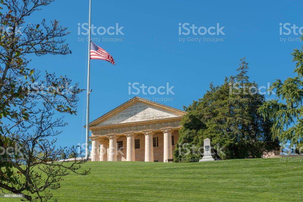 Arlington House, Arlington National Cemetery, Arlington, Virginia stock photo