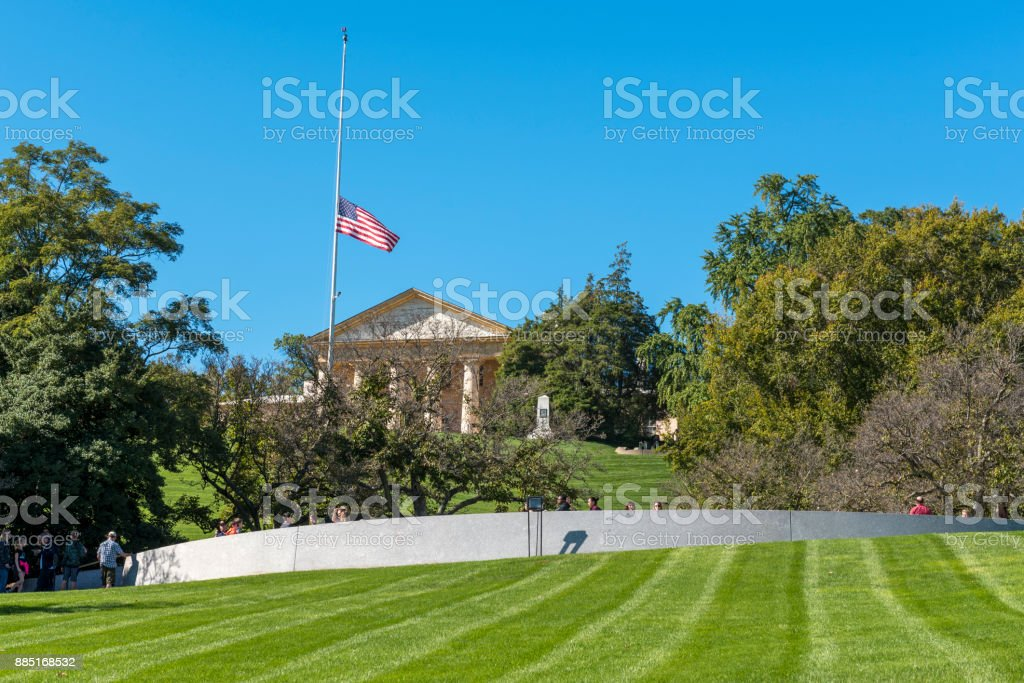 Arlington House, Arlington National Cemetery, Arlington, Virginia stock photo